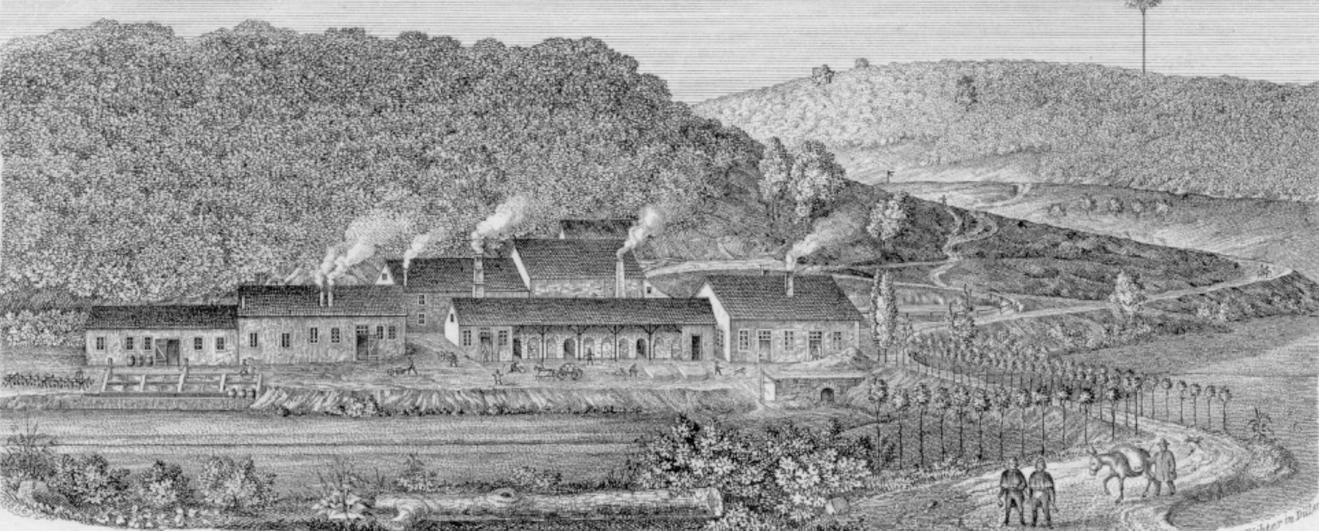 Die Isabellenhütte im Jahre 1865